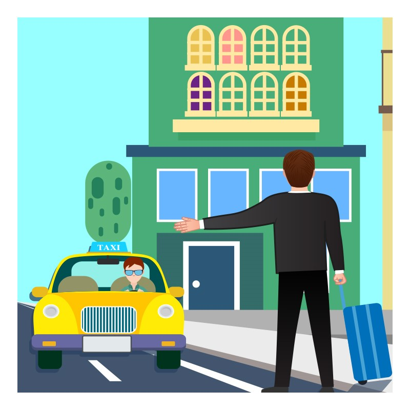 Travel English At The Hotel - Ordering Taxi